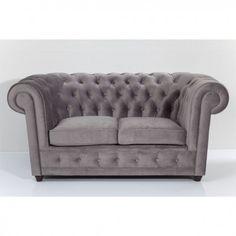 sofá Oxford 2p gris plata