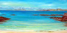 Aska,Art,Painting,Print,Giclee,beach print ,see landscape,blues, torquoise…