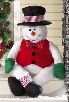 Make a splash in the neighborhood with enchanting outdoor Christmas decorations for a great price from Collections Etc. Christmas Snowman, Christmas Stockings, Christmas Holidays, Christmas Crafts, Merry Christmas, Xmas, Christmas Ideas, Christmas Stuff, Build A Snowman