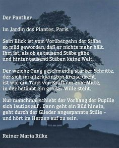 Der Panther - Gedicht von Rainer Maria Rilke