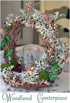 Woodland Centerpiece - 40 Beautiful DIY Easter Centerpieces to Dress Up Your Dinner Table