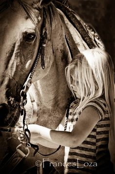 I always wanted a horse when I was a little girl.. horse photo  Lil Cowgirl and her horse art by francesloza on Etsy, $20.00