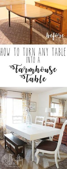 How to turn any dining table into a farmhouse table