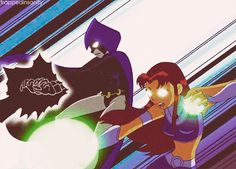 Starfire and raven Teen titans Teen Titans Raven, Teen Titans Go, Dc Comics, Starfire And Raven, Raven Beast Boy, Anime Rules, Nightwing, Batgirl, Animation Reference