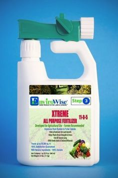 EnviroWise 332 Xtreme All-Purpose Fertilizer with Foliar Sprayer by EnviroWise. $19.30. EnviroWise Xtreme All Purpose Fertilizer 11-8-5 was developed for agriculture and is the best combination of elements many natural occurring to boost plant and turf color CORRECTS NUTRIENT IMBALANCES helps remediate soil and eliminate excessive growth. It can be used all season long to make your garden grow into a lush oasis. The Humic Acid and chelated m...