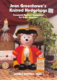 Jean Greenhowe s Knitted Hedgehogs - 27 Pages - Double Knitting Yarn Vogue Knitting, Knitting Books, Knitting Yarn, Free Knitting, Vintage Knitting, Knitting Projects, Knitting Dolls Free Patterns, Knitted Dolls Free, Crochet Patterns