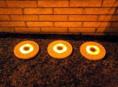 Solar Powered Lighted Stepping Stone