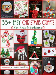 A Little Pinch of Perfect: 35+ Easy Christmas Crafts for Kids & Toddlers-super cute list!