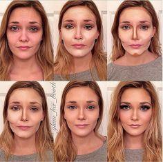 Antes e depois da maquiagem...show.