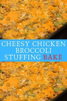 CHEESY CHICKEN BROCCOLI STUFFING BAKE #CHEESY #CHICKEN #BROCCOLI #STUFFING #BAKE