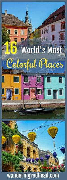 Put these colorful places on your travel bucket list, from Miami and Copenhagen to Hoi An and Bali.