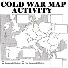 Students are asked to label countries boundaries) of Europe, and explain how countries fell to communism. Good activity after a Cold War lesson. Ap European History, Modern History, 8th Grade History, History Interactive Notebook, Interactive Notebooks, World History Teaching, History Education, Map Activities, American History Lessons