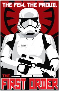 Star Wars Saga First Order Recruitment Poster