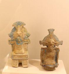 Figurillas de personaje en trono, Jaina, Clásico Tardío 600-900