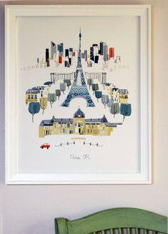 Paris Eiffel Tower saisonale Release von albiedesigns auf Etsy, $35.00
