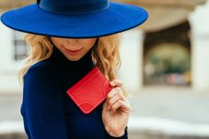 Christmas Red Leather Card Holder. Perfect gifts for stocking fillers! www.bettyandbetts.com/shop