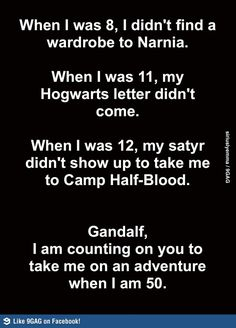 I am counting on Gandalf.