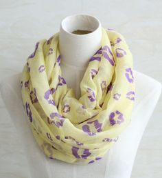 Yellow purple lips pattern scarf women by blackbeanblackbean, $9.99