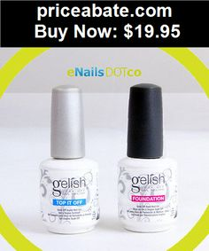 nails: Harmony Gelish Soak Off Gel Top Coat and Base Foundation Gel Set Kit .5oz - BUY IT NOW ONLY $19.95
