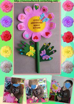 Fleur de printemps réalisée par Gaspard pour sa maman