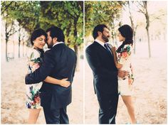 The Palais Royal has rows of beautiful trees, making it very intimate for #Elopement #photography #Paris
