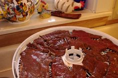 Best Dang Deer Jerky Marinade Ever 1 tbsp. black pepper 3 cloves of garlic, minced (or 1 tbsp. garlic powder) c. soy sauce c. white or cider vinegar c. of Tabasco sauce 2 tsp. Deer Jerky Recipe, Venison Jerky Recipe, Jerky Marinade, Venison Recipes, Smoker Recipes, Sausage Recipes, Deer Recipes, Game Recipes