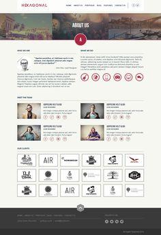 Hexagonal – Clean Multipurpose Responsive Website by AVAThemes , via Behance