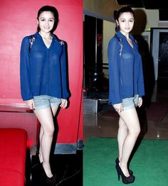 Newcomer Alia Bhatt sent the fashion police and her fans into a tizzy with her uber hot look in a sheer blue top and a denim pants. While the dress was nothing but sexy, it did not clash with the innocent smile that played on her lips. Simple Street Style, Street Style Looks, Denim On Denim Looks, Denim Pants, Celebrity Style Guide, Bollywood Masala, Bollywood Celebrities, Female Celebrities, Outfit Trends