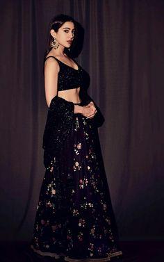 Find the latest Bollywood celebrity inspired lehenga designs for weddings. Check Lehenga designs worn by Alia Bhatt, Katrina Kaif, Shradhha Kapoor. Black Lehenga, Floral Lehenga, Lehenga Choli, Sabyasachi, Sharara, Sarees, Lehenga Blouse, Anarkali, Dress Indian Style
