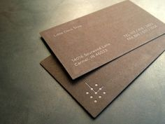 Loving this excellent logo and subtle business card design, by...