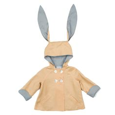 Little Goodall Boys linen rabbit coat