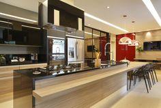 Cozinha Gourmet : Cozinhas modernas por Arquitetura e Interior