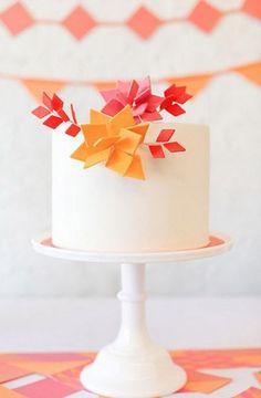 Paper folded cake flowers!