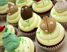 Cupcakes Plants vs Zoombies http://cdn.walyou.com/wp-content/uploads//2012/05/Plants-vs-Zombies-Cupcakes-1.jpg