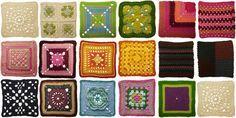 Granny square tutorial (in swedish) Love Crochet, Beautiful Crochet, Easy Crochet, Crochet Lace, Crochet Afghans, Crochet Granny, Crochet Blocks, Crochet Squares, Granny Squares