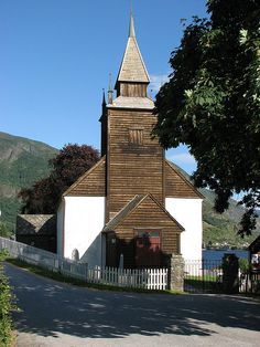 Leikanger Stone Church (ca 1250) on Sogn og Fjordane | Flickr - Photo Sharing!