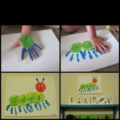 """Did this craft after reading """"The Very Hungry Caterpillar."""