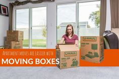 Make less trips up and down the stairs at your apartment by packing right! Moving boxes have handles for easy lifting, so moving your belongings fro your apartment to moving truck will be no problem! | Apartment Living