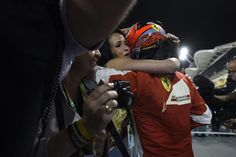 Hug. #Kimi #KimiRaikkonen #Raikkonen #iceman #scuderiaferrari #bahgp #redseason #BahrainGp #F1