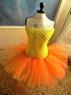 Tutu Dress-PURE SUNSHINE - Boutique Yellow and Orange Tulle Tutu Dress Fits 3m, 2T, 3T , Baby, Toddler