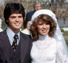 Donny Osmond and his bride Debbie in 1978.