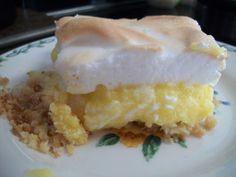 S - Lemon Meringue in 9x11 Crust-1c almd flour,1TBP truvia,1 egg,1/8c h2o,1/3c butter.Mix,press in 11x9 pan, bake 15 min,350 degrees.Filling- In sauce pan;4 eggs,4 egg yolks(save whites for meringue),1/2c lemon juice,3/4c truvia,1/2tsp lemon extract,4TBP butter.Whisk,bring to boil over low heat.When thick,pour on baked crust.Meringue-4 egg whites,½tsp cream tartar,¾c powder xylitol.Beat egg whites & cream tartar.When stiff add xylitol,stir gently.Pour on filling,bake 400 degrees until nice…