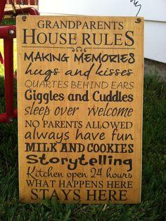 Grandparents House Rules vinyl decal