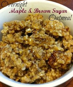 overnight maple and brown sugar oatmeal (steel cut oats)  It was yummuy and nice to have a fast hot breakfast.