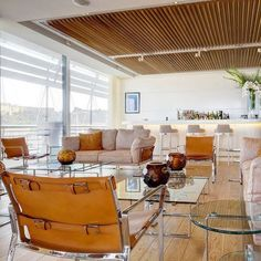 FENDI CASA | THE MONACO YACHT CLUB | Elegant, innovative and stylish. See the Monaco yacht club entirely furnished by Fendi Casa in collaboration with designer Jacques Grange.This project comes off the drawing table of architect Lord Norman Foster