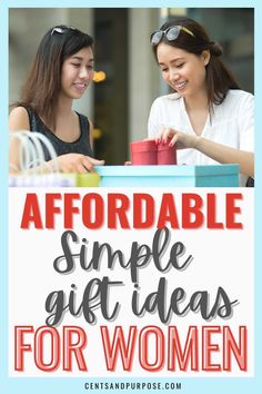 It can be hard finding the perfect gift for the woman who has everything - this list of gift ideas includes affordable gift ideas for women she will love that won't break your budget! Find fun and useful gifts any woman would love to receive!