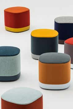 Enea Lands in Stockholm is part of Furniture design modern The new collection by Estudi Manel Molina at SFF 2019 - Funky Furniture, Colorful Furniture, Sofa Furniture, Furniture Design, Colani, Commercial Furniture, Painted Chairs, Office Interiors, Chair Design