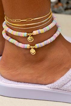 Handmade Wire Jewelry, Beaded Jewelry, Beaded Bracelets, Jewellery, Preppy Bracelets, Ankle Bracelets, Pulseras Kandi, Summer Jewelry, Diy Necklace