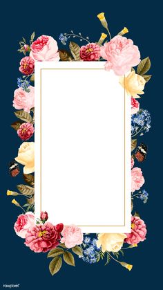 Blank floral frame card vector | premium image by rawpixel.com / Niwat