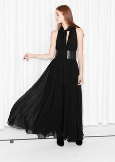 & Other Stories   Flowy Silk Maxi Dress